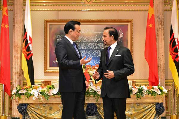 China strengthens ties with Brunei