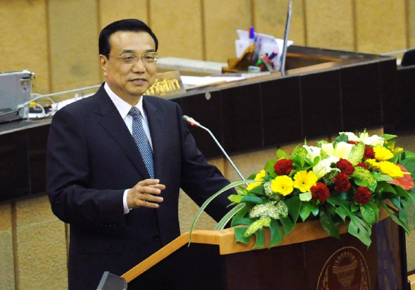 Li makes four-point proposal to upgrade ties with Thailand
